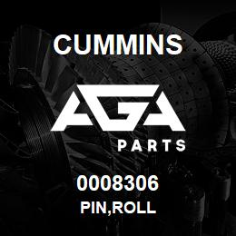 0008306 Cummins PIN,ROLL | AGA Parts