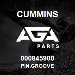 000845900 Cummins PIN,GROOVE | AGA Parts