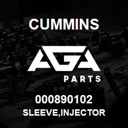 000890102 Cummins SLEEVE,INJECTOR | AGA Parts