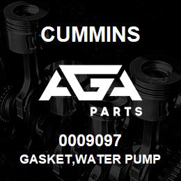0009097 Cummins GASKET,WATER PUMP | AGA Parts