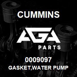 0009097 Cummins GASKET,WATER PUMP | AGA Parts