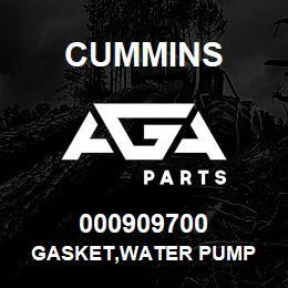 000909700 Cummins GASKET,WATER PUMP | AGA Parts