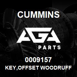 0009157 Cummins KEY,OFFSET WOODRUFF | AGA Parts