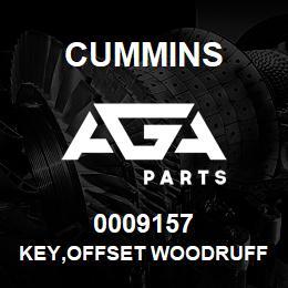 0009157 Cummins KEY,OFFSET WOODRUFF | AGA Parts
