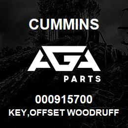 000915700 Cummins KEY,OFFSET WOODRUFF | AGA Parts