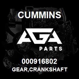 000916802 Cummins GEAR,CRANKSHAFT | AGA Parts