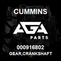 000916802 Cummins GEAR,CRANKSHAFT | AGA Parts
