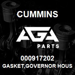000917202 Cummins GASKET,GOVERNOR HOUSING | AGA Parts