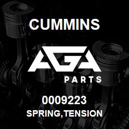 0009223 Cummins SPRING,TENSION   AGA Parts