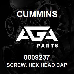 0009237 Cummins SCREW, HEX HEAD CAP | AGA Parts