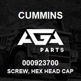 000923700 Cummins SCREW, HEX HEAD CAP   AGA Parts