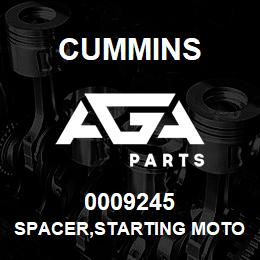 0009245 Cummins SPACER,STARTING MOTOR | AGA Parts