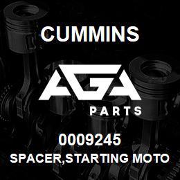 0009245 Cummins SPACER,STARTING MOTOR | AGA Parts