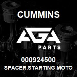 000924500 Cummins SPACER,STARTING MOTOR | AGA Parts