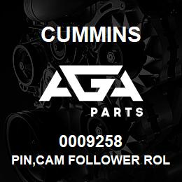 0009258 Cummins PIN,CAM FOLLOWER ROLLER | AGA Parts