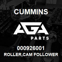 000926001 Cummins ROLLER,CAM FOLLOWER | AGA Parts