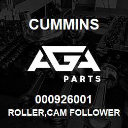 000926001 Cummins ROLLER,CAM FOLLOWER | AGA Parts