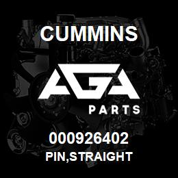 000926402 Cummins PIN,STRAIGHT | AGA Parts