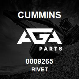 0009265 Cummins RIVET | AGA Parts