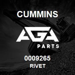 0009265 Cummins RIVET | AGA Parts