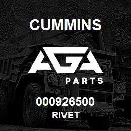 000926500 Cummins RIVET | AGA Parts