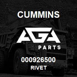 000926500 Cummins RIVET | AGA Parts