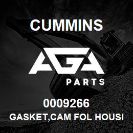 0009266 Cummins GASKET,CAM FOL HOUSING | AGA Parts