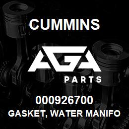 000926700 Cummins GASKET, WATER MANIFOLD | AGA Parts