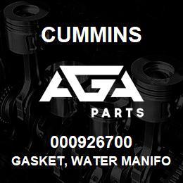 000926700 Cummins GASKET, WATER MANIFOLD | AGA Parts