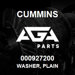 000927200 Cummins WASHER, PLAIN | AGA Parts