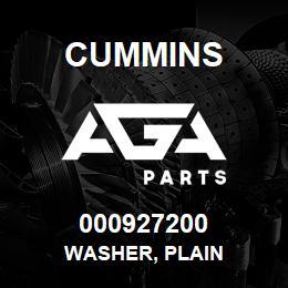 000927200 Cummins WASHER, PLAIN | AGA Parts