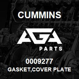 0009277 Cummins GASKET,COVER PLATE | AGA Parts