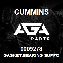 0009278 Cummins GASKET,BEARING SUPPORT | AGA Parts