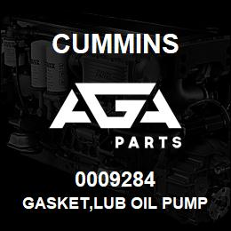 0009284 Cummins GASKET,LUB OIL PUMP | AGA Parts