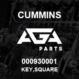 000930001 Cummins KEY,SQUARE | AGA Parts