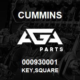 000930001 Cummins KEY,SQUARE | AGA Parts