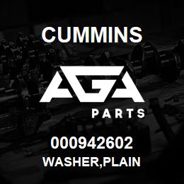 000942602 Cummins WASHER,PLAIN | AGA Parts