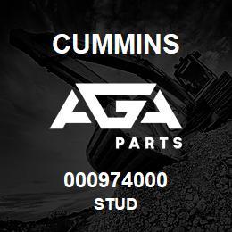000974000 Cummins STUD | AGA Parts