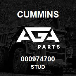 000974700 Cummins STUD | AGA Parts