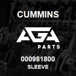 000981800 Cummins SLEEVE | AGA Parts