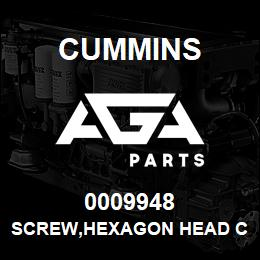 0009948 Cummins SCREW,HEXAGON HEAD CAP | AGA Parts