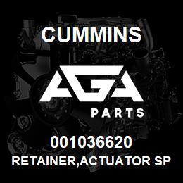 001036620 Cummins RETAINER,ACTUATOR SPRING | AGA Parts