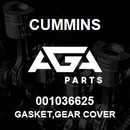 001036625 Cummins GASKET,GEAR COVER | AGA Parts
