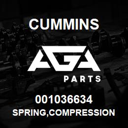001036634 Cummins SPRING,COMPRESSION | AGA Parts