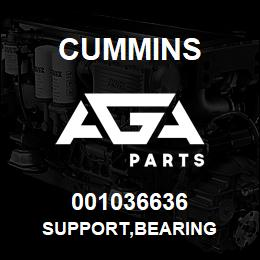 001036636 Cummins SUPPORT,BEARING | AGA Parts