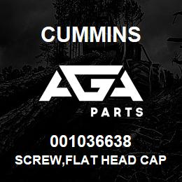 001036638 Cummins SCREW,FLAT HEAD CAP | AGA Parts