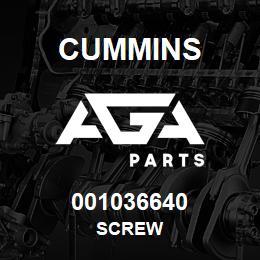 001036640 Cummins SCREW | AGA Parts
