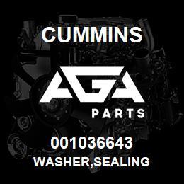001036643 Cummins WASHER,SEALING | AGA Parts
