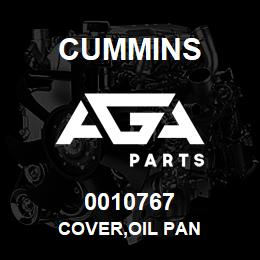 0010767 Cummins COVER,OIL PAN | AGA Parts