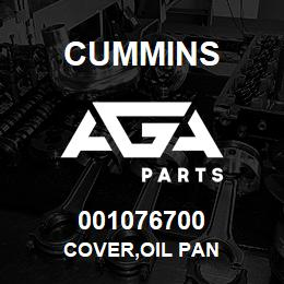 001076700 Cummins COVER,OIL PAN | AGA Parts